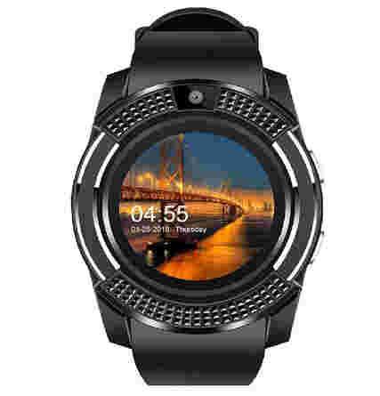 GIXON V8 Bluetooth Touch Screen Smart Watch Phones with Camera, SIM, SD Card Slot Black  3297 रुपये की घडी मात्र 989 रुपए में पाएँ