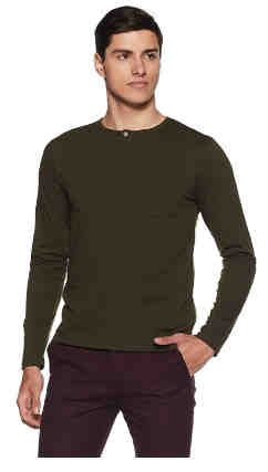 Men's Solid Regular Fit Half Sleeve Cotton T-Shirt