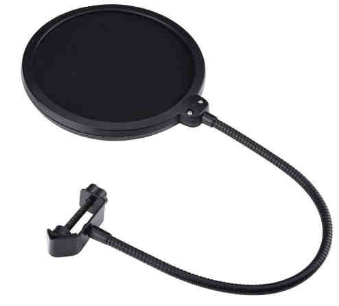 Electomania® Studio Microphone Mic Wind Screen Pop Filter/ Swivel Mount, 360° Flexible Gooseneck Holde