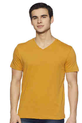 Amazon Brand - Symbol Men's Solid Regular Fit Half Sleeve Cotton T-Shirt
