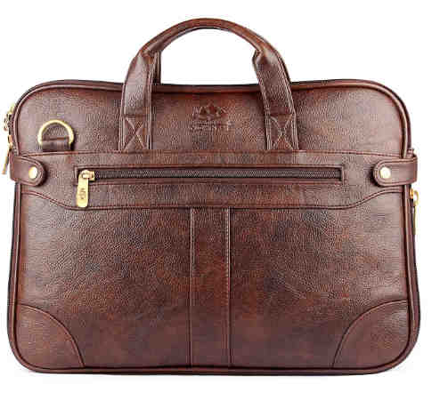 2. The Clownfish Royal Synthetic Leather Laptop Briefcase-। Laptop Bag. Messenger Bag (Dark Brown) with 365 Days Warranty