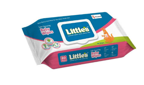 Little's Soft Cleansing Baby Wipes Lid Pack (80 Wipes)