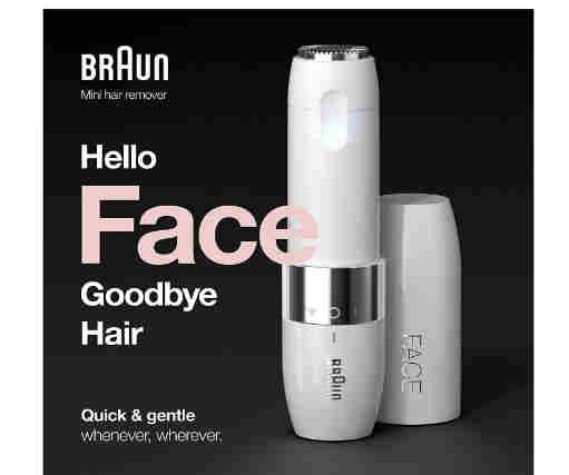 Braun फेस मिनी हेयर रिमूवर FS1000, महिलाओं के लिए