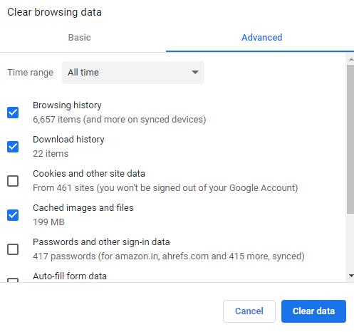 Google Chrome history kaise delete kare